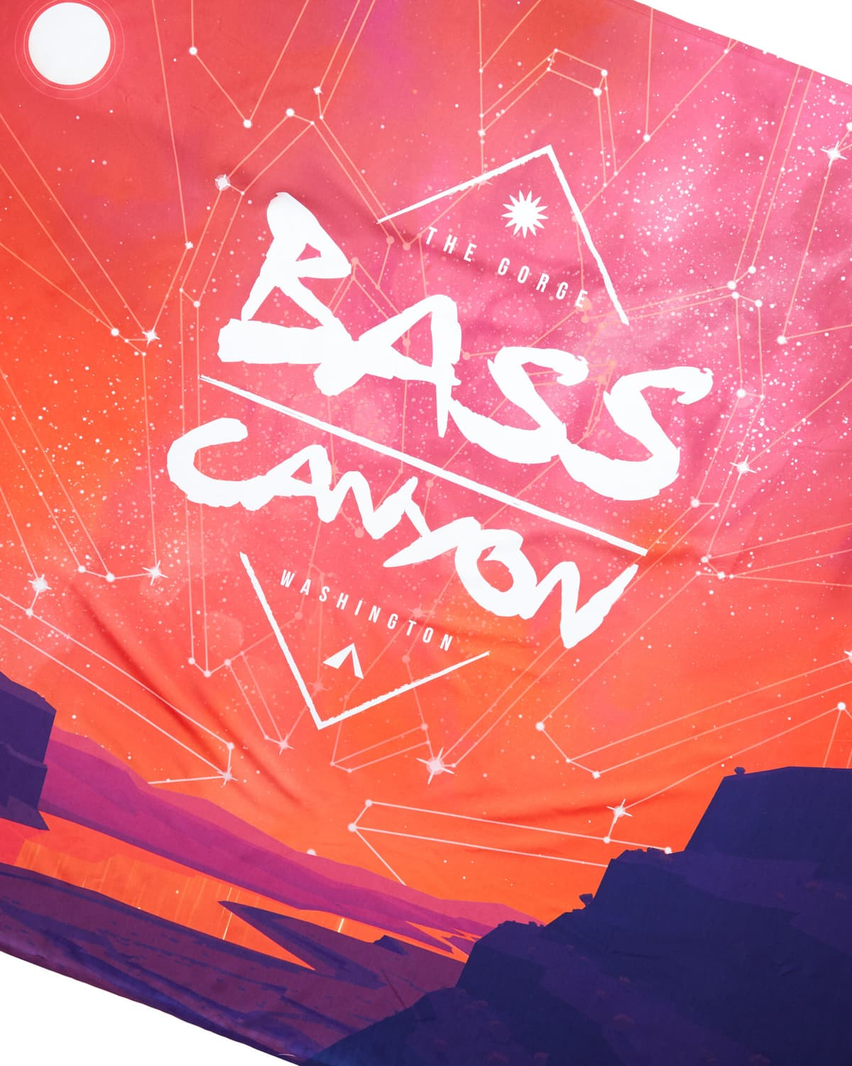 "Bass Canyon Festival Tapestry - 60"" x 50"" - Heatwave"