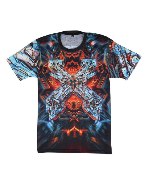 "Excision 'The Paradox 2017"" Dye Sub Tour T-Shirt - Blue/Orange"