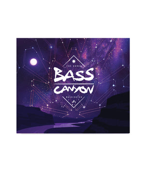 "Official Bass Canyon Blanket - 60"" X 50"" - Midnight"