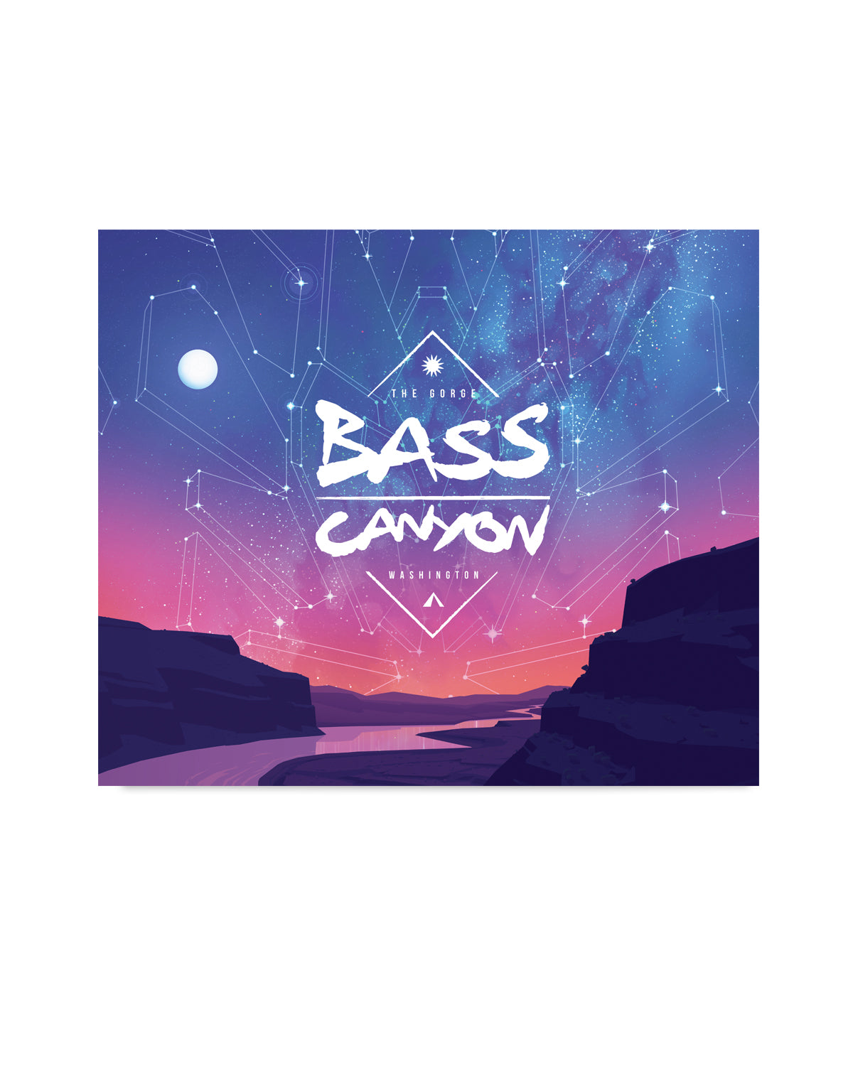 "Bass Canyon Festival Blanket - 60"" X 50"" - Sunset"