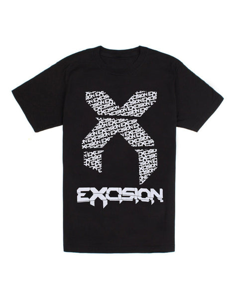 Excision Big X Unisex T-Shirt - Black