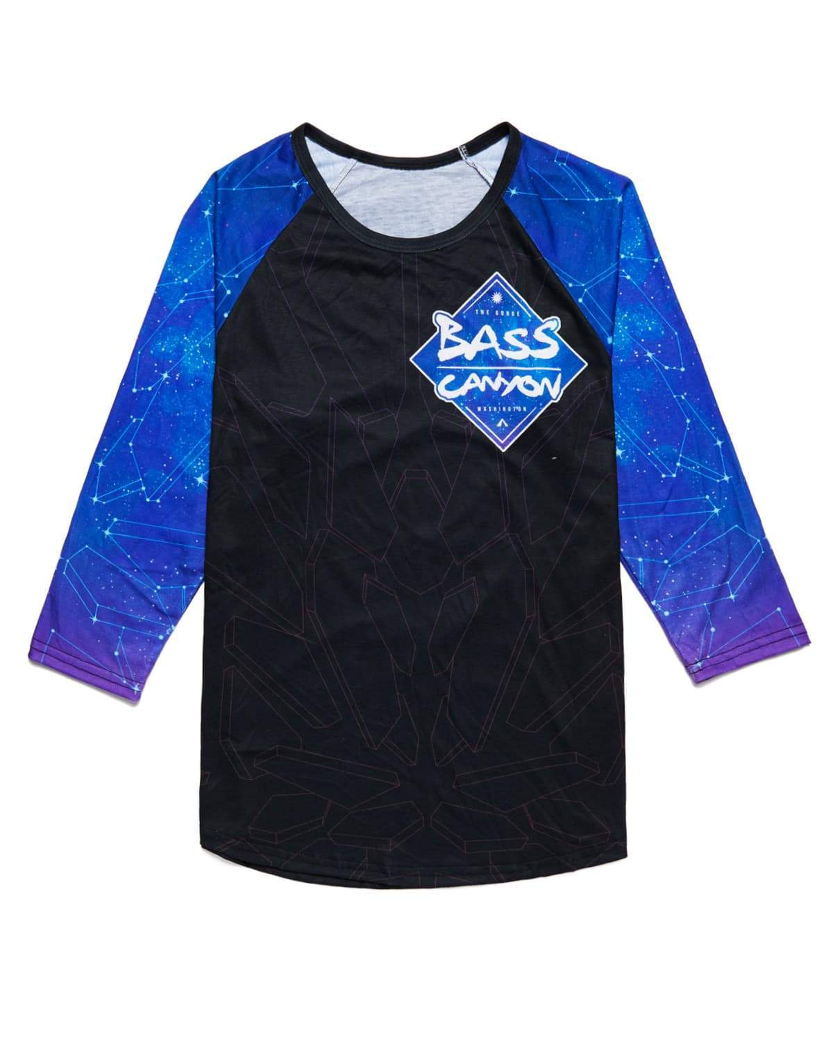 Bass Canyon 2018 Baseball Tee - Purple/Black