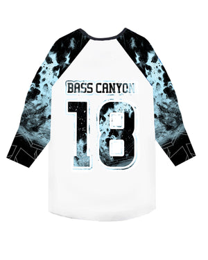 Bass Canyon 2018 Baseball Tee - White/Blue
