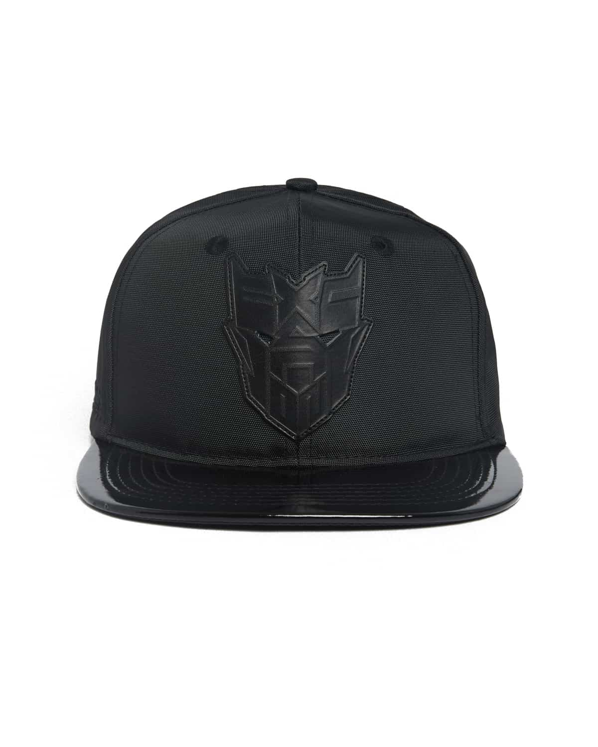 Excision 'Decepticon' Patent Leather Visor Ballistic Snapback - Black