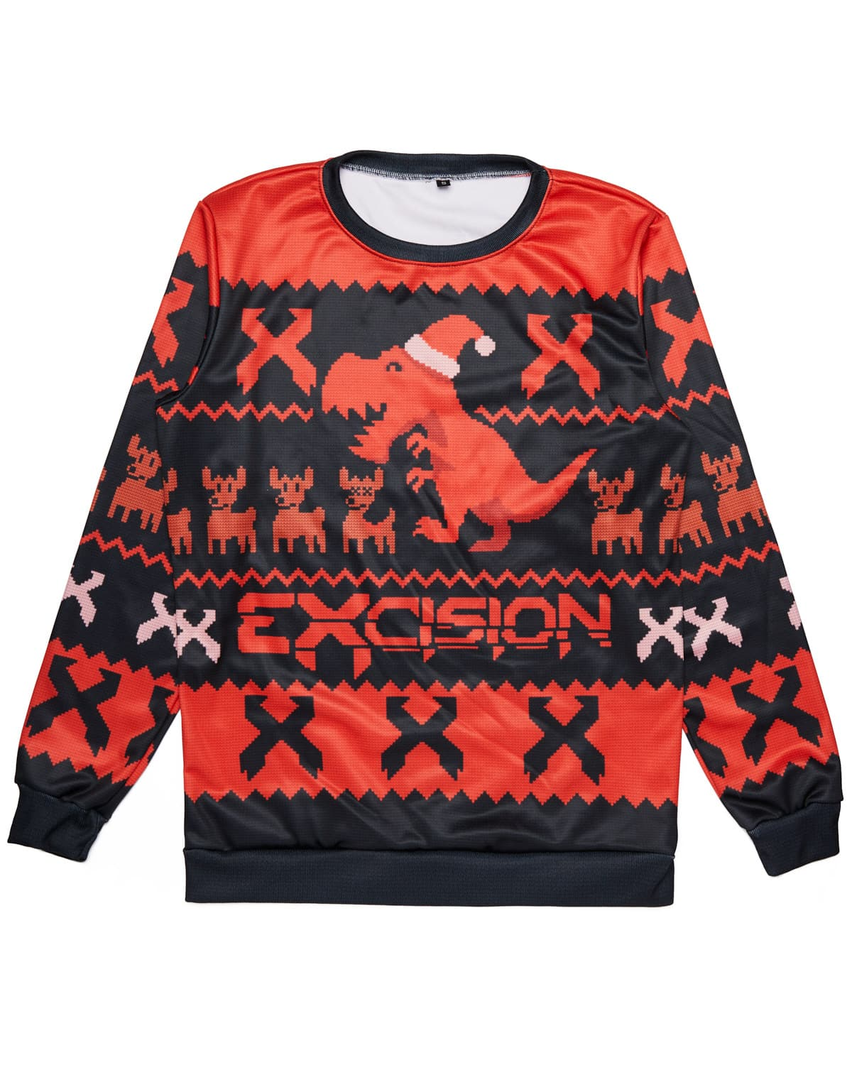 Excision Ugly Christmas Sweater - Black/Red