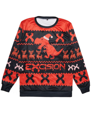 Excision 2018 Ugly Christmas Sweater - Black/Red