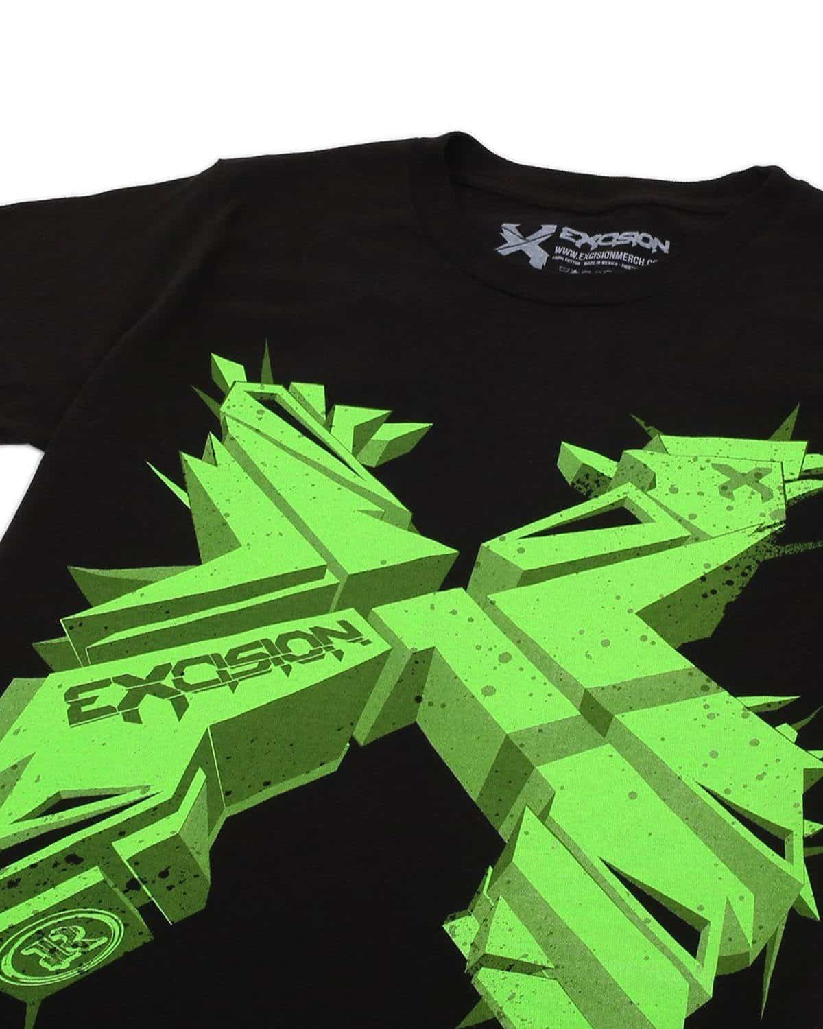Excision 3DX Unisex Tee - Black/Green