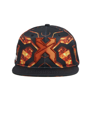 'Apex' Snapback - Black/Orange