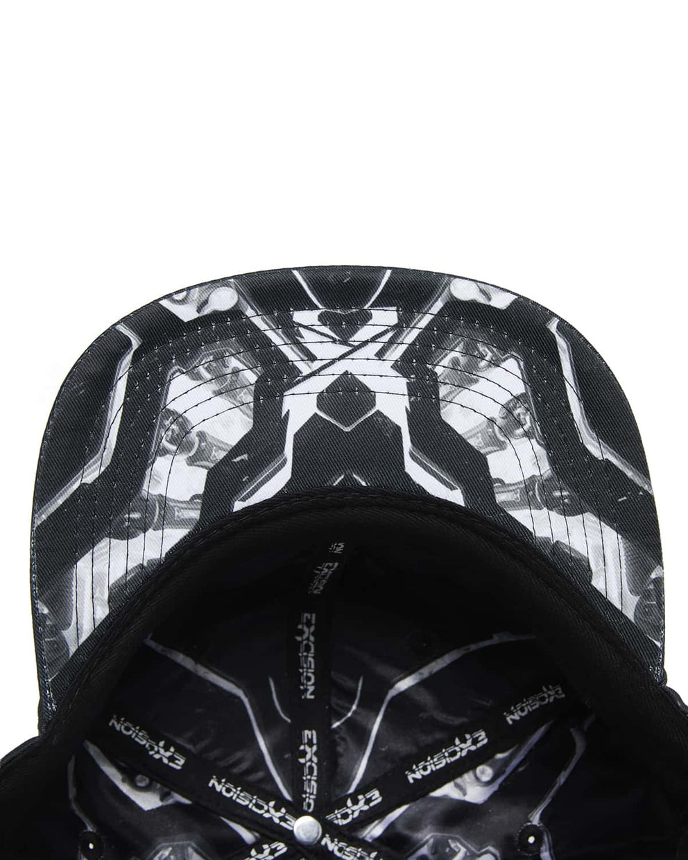 'Apex' Snapback - Black/White