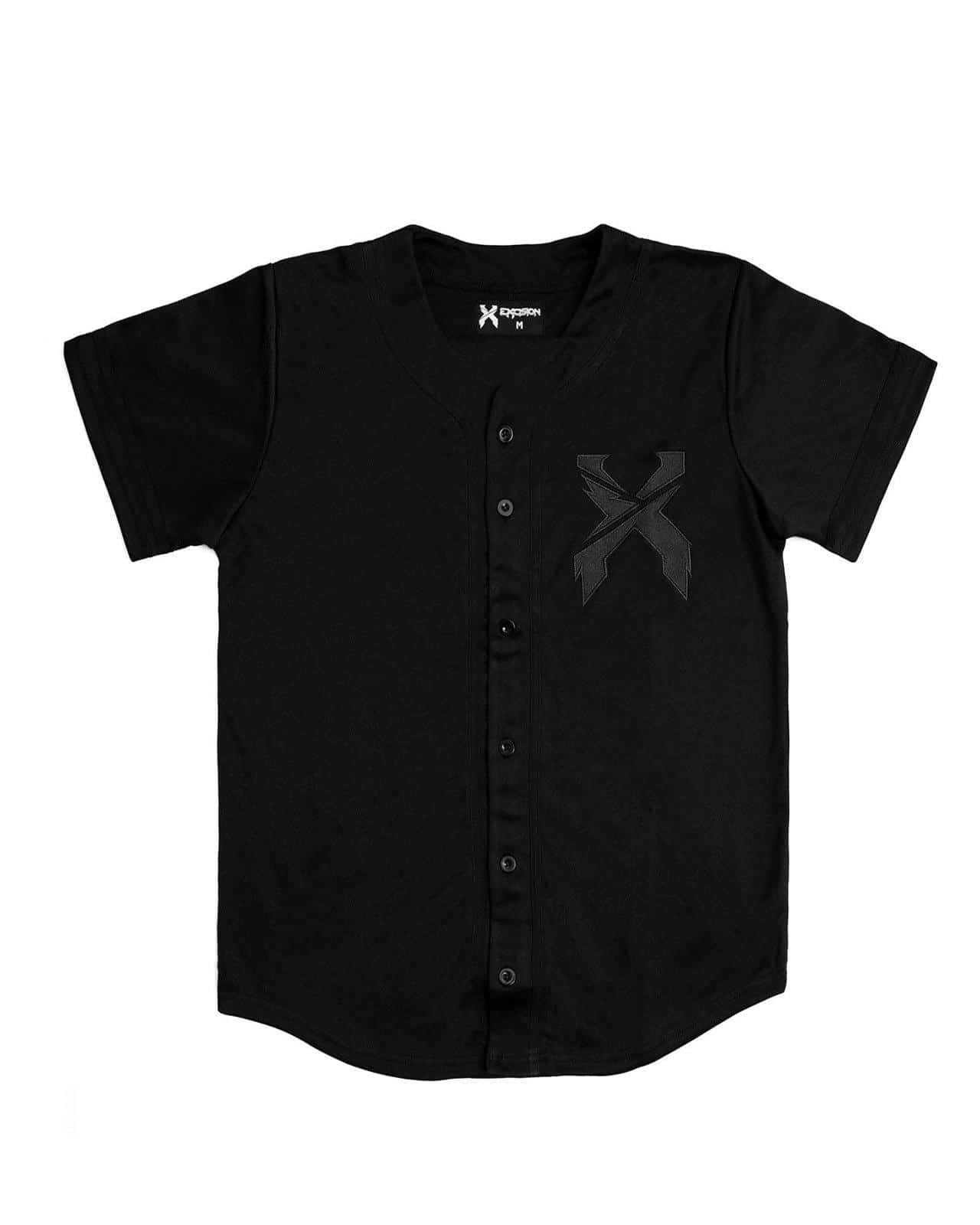 Excision Baseball Jersey - Black/Black