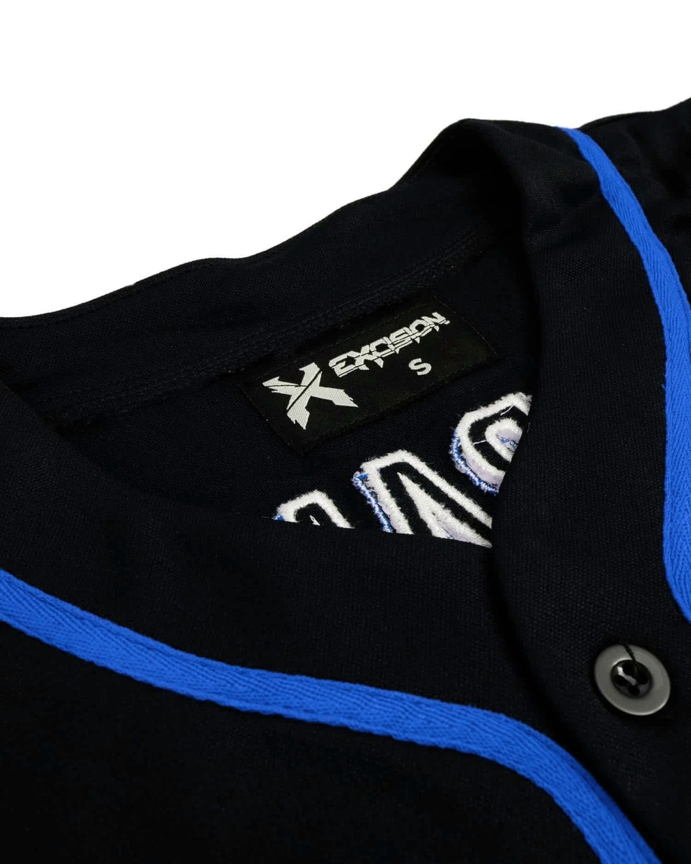 Excision Baseball Jersey - Black/Blue