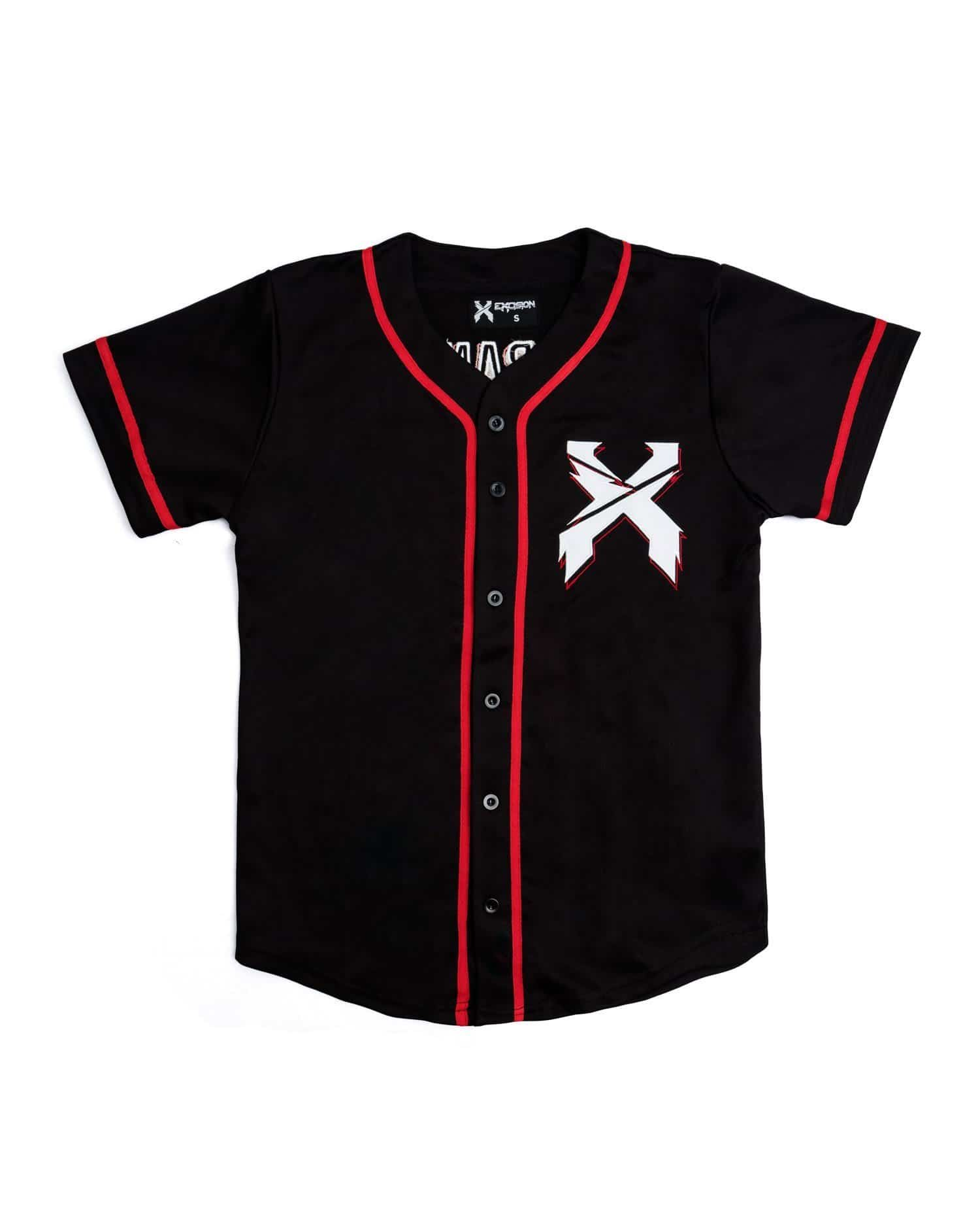superior quality 359e0 d2d92 Excision Baseball Jersey - Black/Red