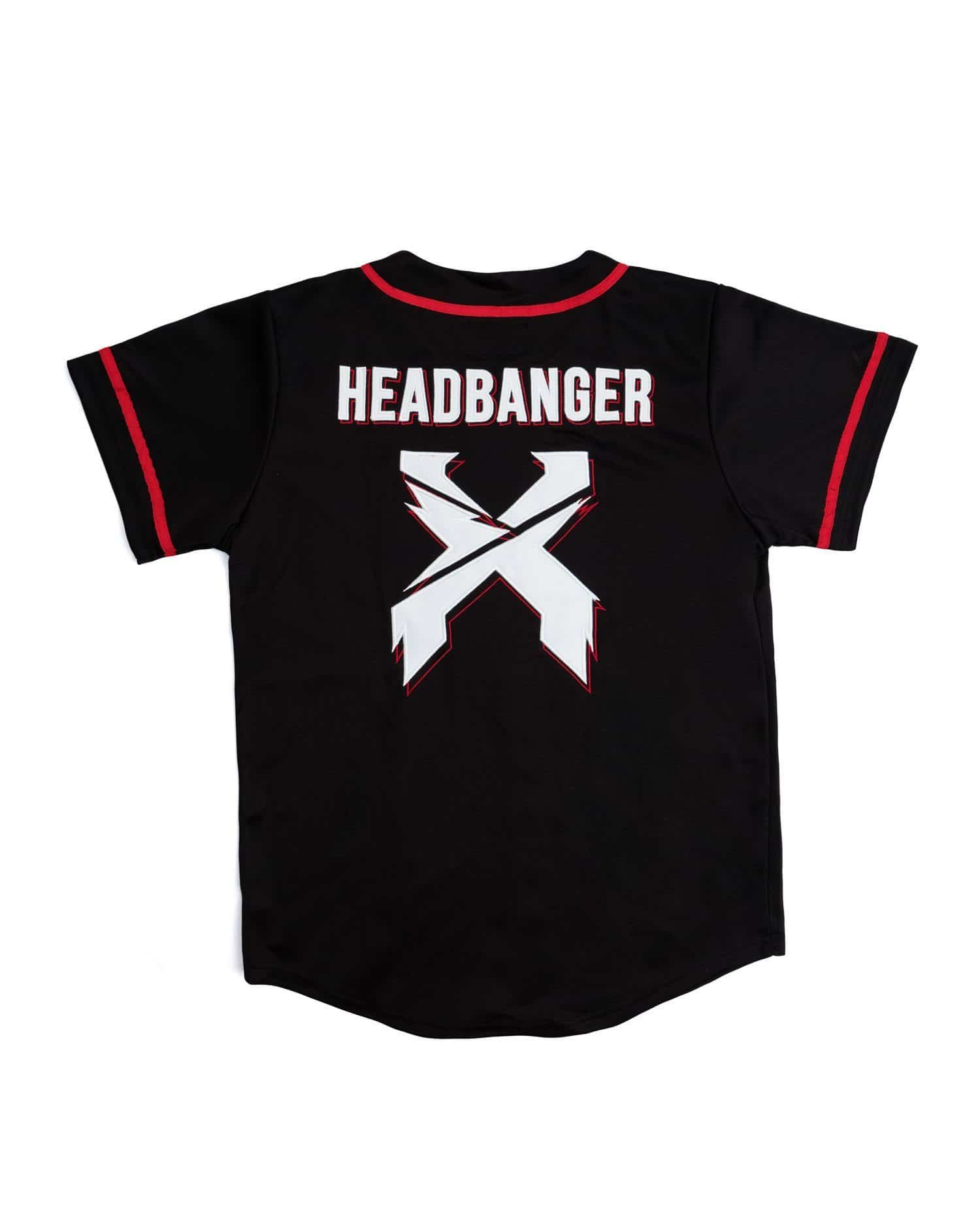 Excision Baseball Jersey - Black/Red