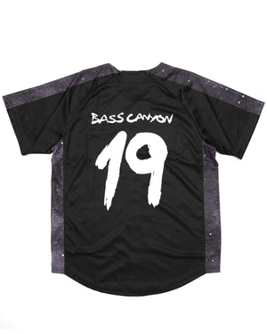 Excision 'Bass Canyon' Baseball Jersey - Black/Black