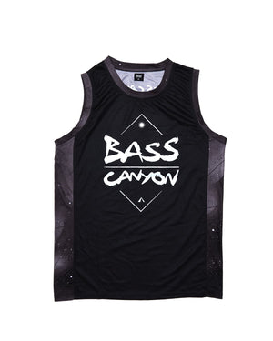 Excision 'Bass Canyon' Basketball Jersey - Black/Black