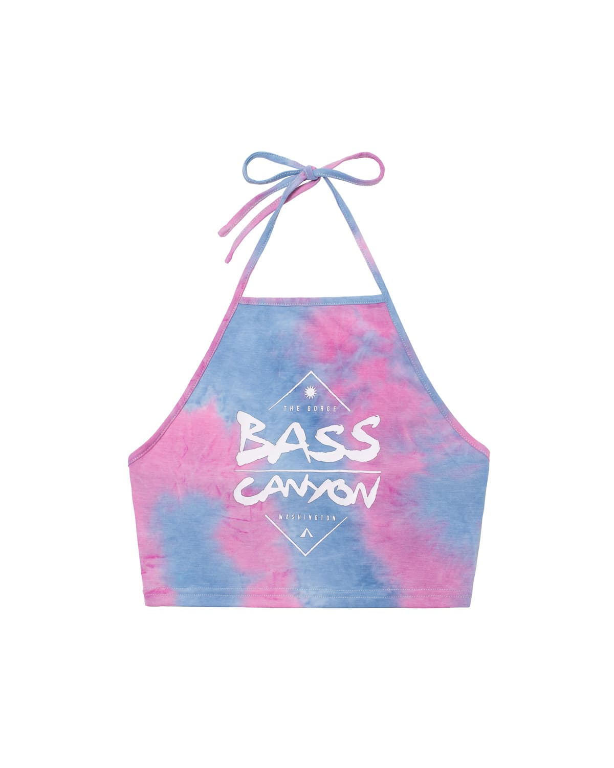 Bass Canyon Tie Dye Halter Top - Pink/Blue