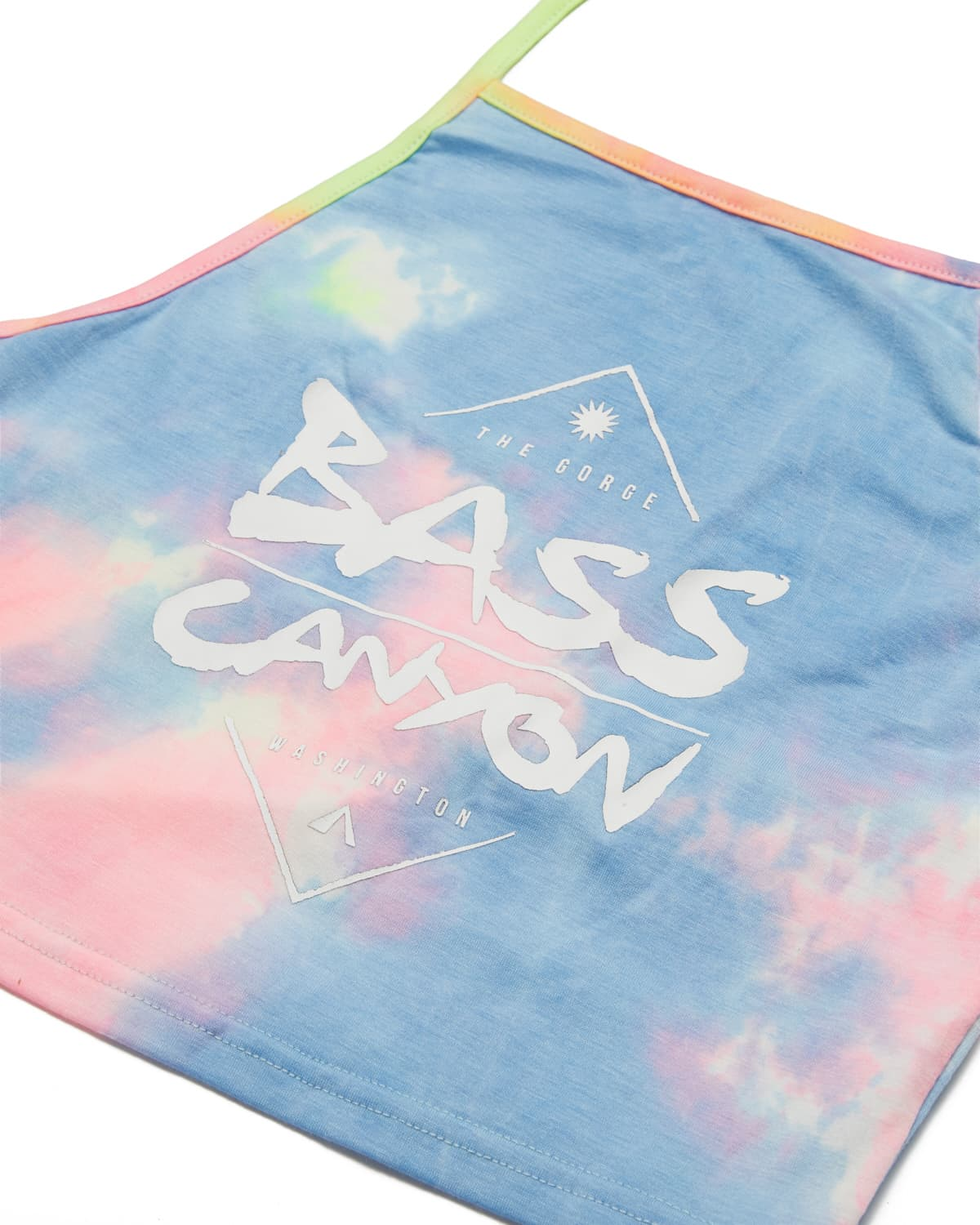 Bass Canyon Tie Dye Halter Top - Rainbow