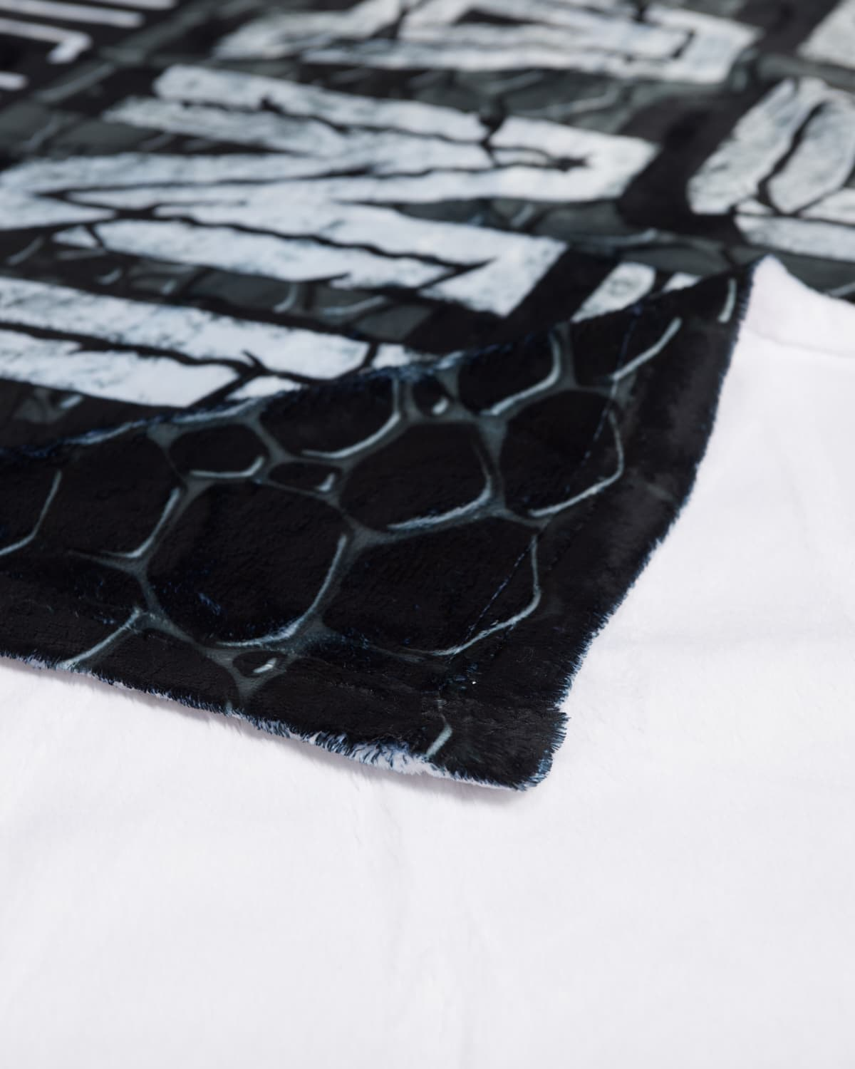 'Couch Lands' Dye Sub Blanket - Black