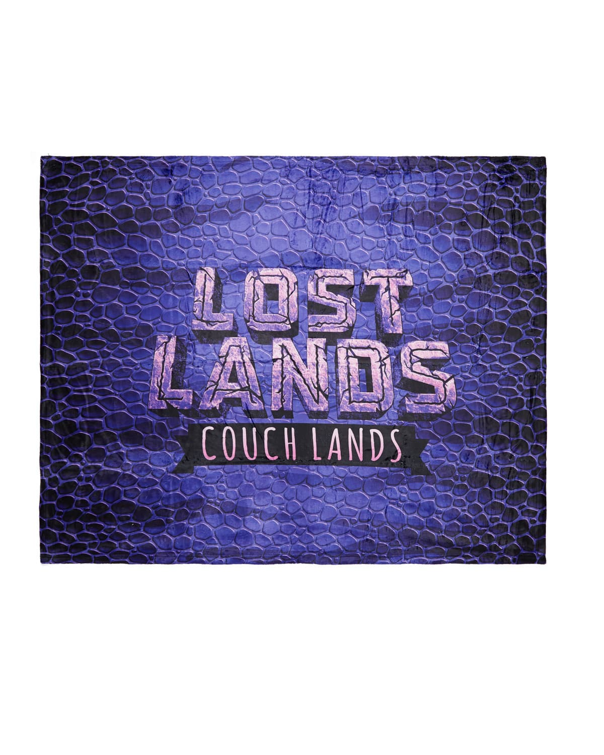 'Couch Lands' Dye Sub Blanket - Purple