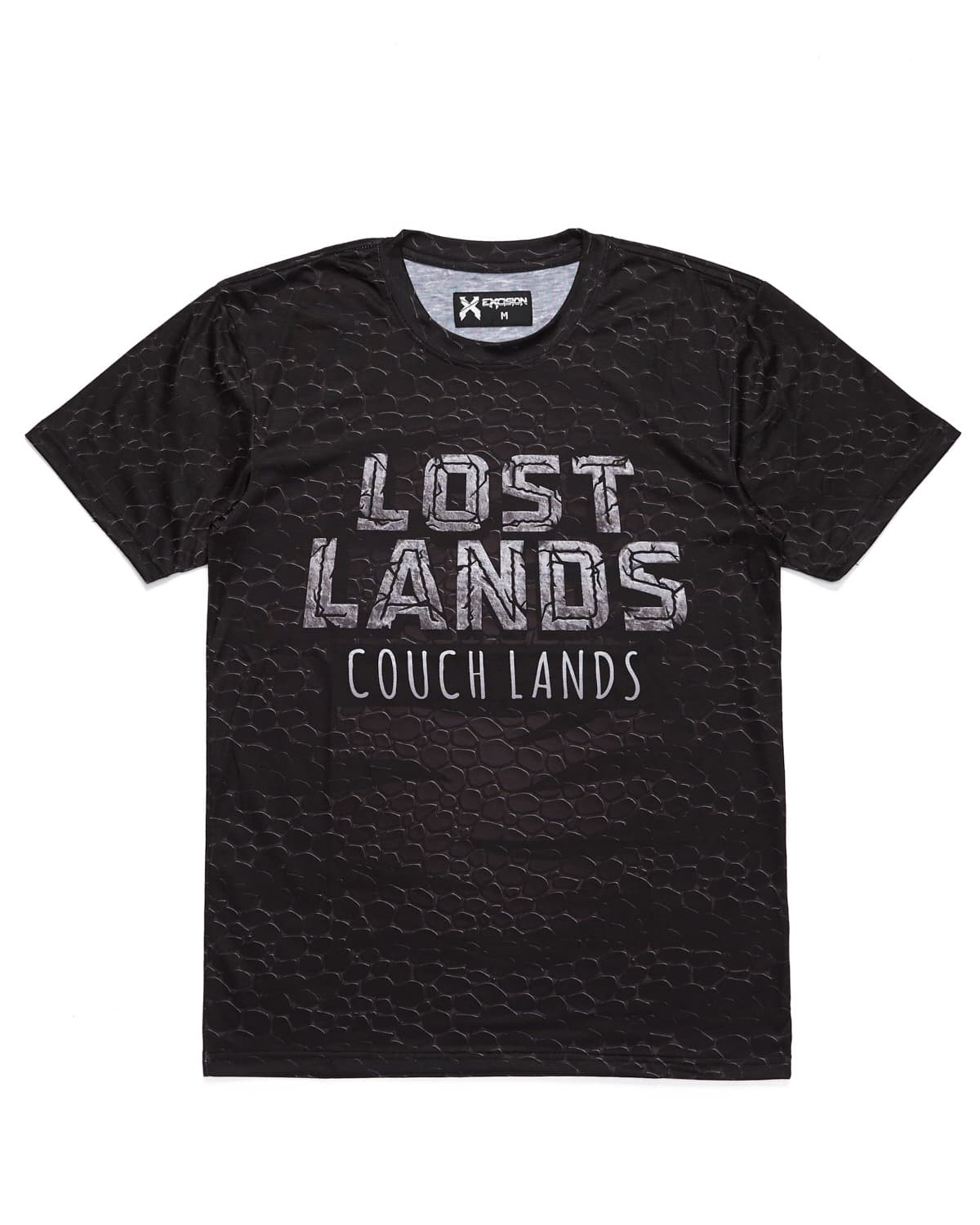 'Couch Lands' Dye Sub Tee - Black