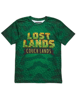 'Couch Lands' Dye Sub Tee - Green
