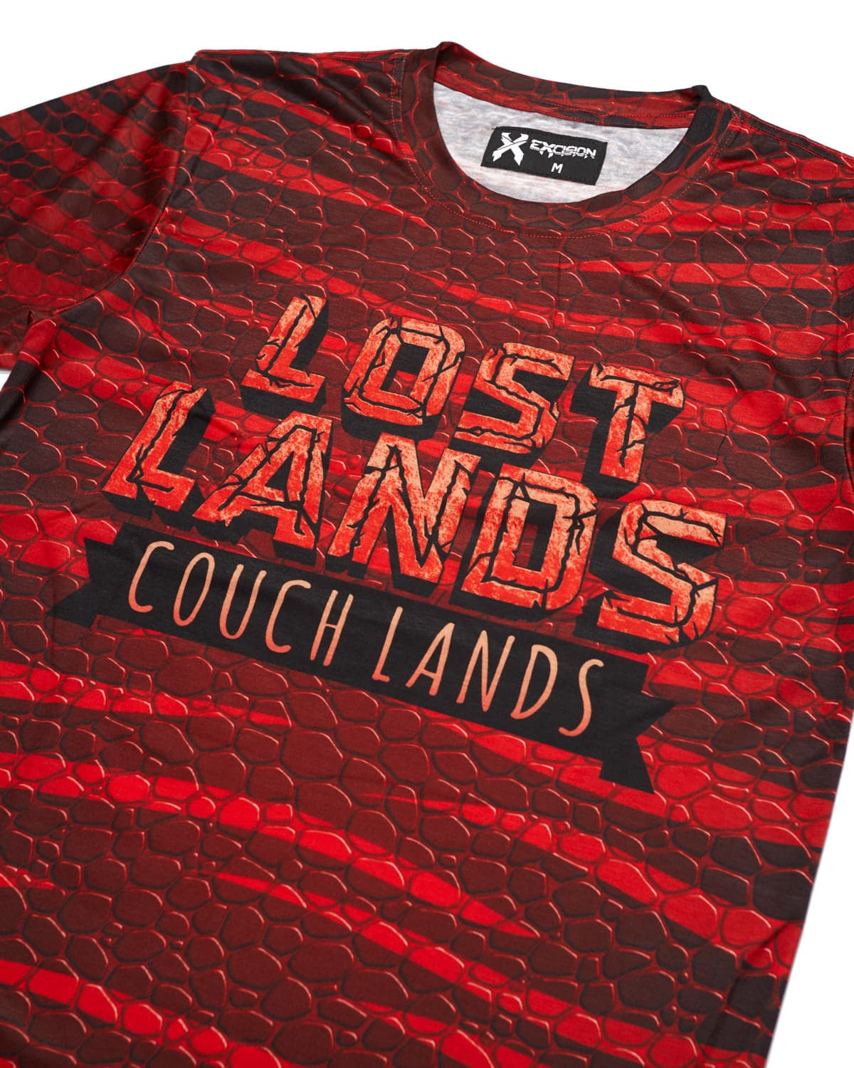 'Couch Lands' Dye Sub Tee - Red