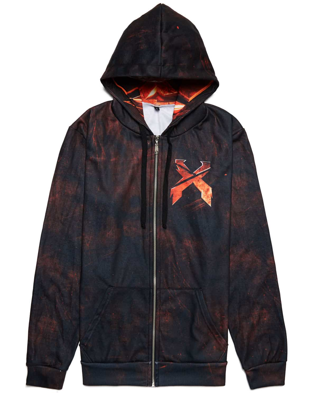 Excision 'Decepticon' Full-Zip Hoodie - Ruby