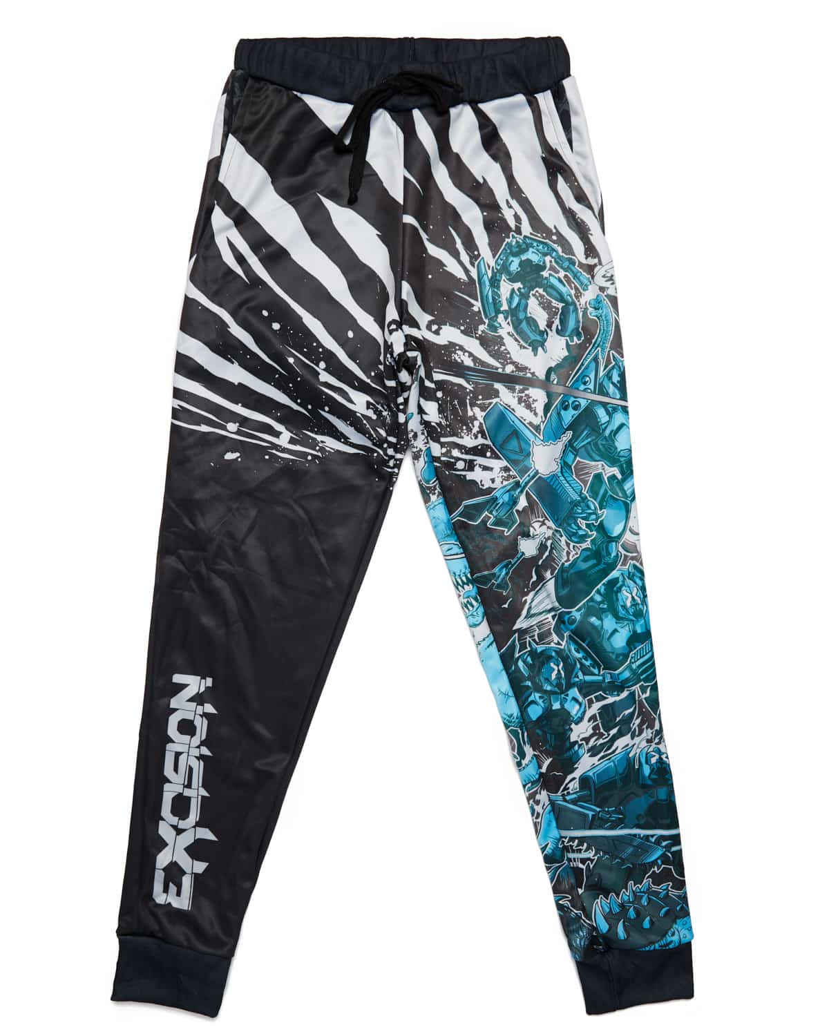 Excision 'Dino vs. Robot' Joggers - Blue