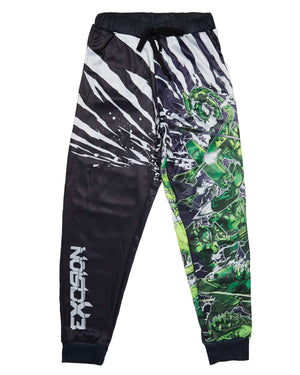 Excision 'Dino vs. Robot' Joggers - Green