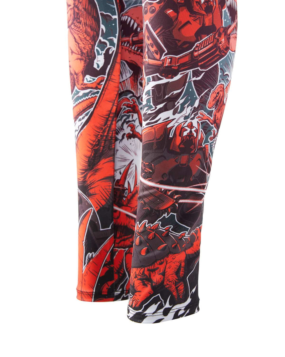 Excision 'Dino vs. Robot' Leggings - Red