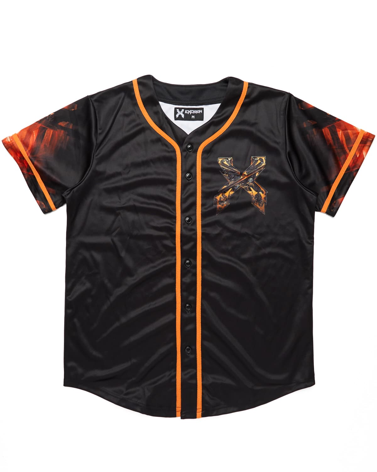 Evolution Tour Baseball Jersey - Black/Orange
