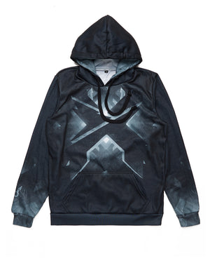 Headbanger Evolution Dye Sub Hoodie - Black/Grey