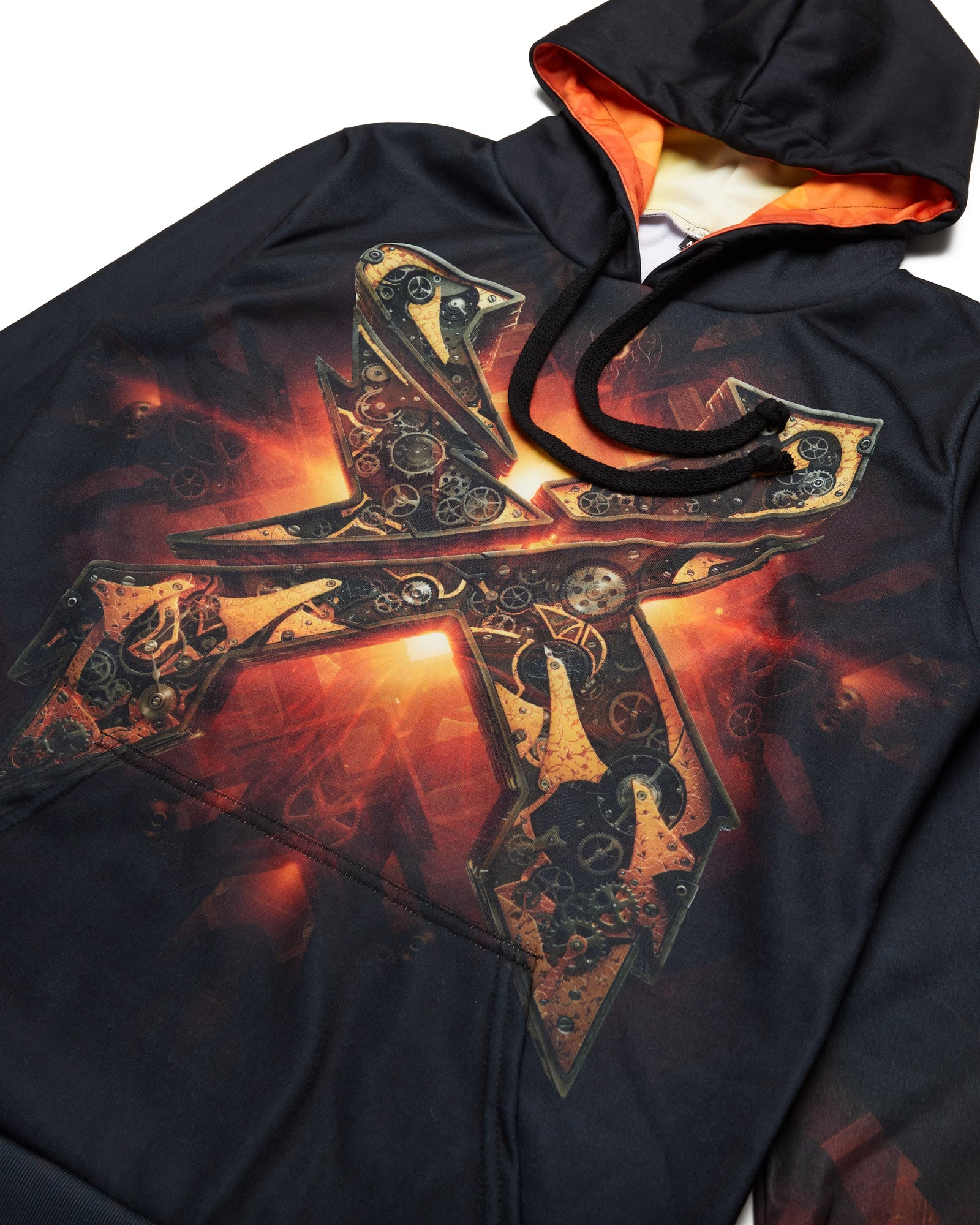 Evolution Tour Dye Sub Hoodie - Black/Orange/Red
