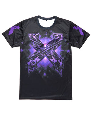 Evolution Dye Sub T-Shirt - Black/Purple