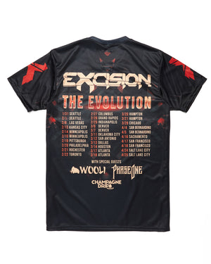 Evolution Dye Sub T-Shirt - Black/Red