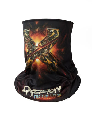 Evolution Tour Neck Gaiter - Black/Gold/Red