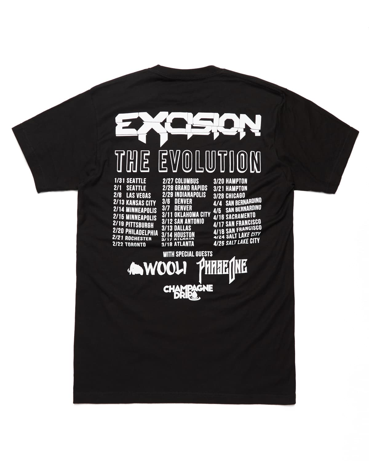 Evolution Tour Tee - Black