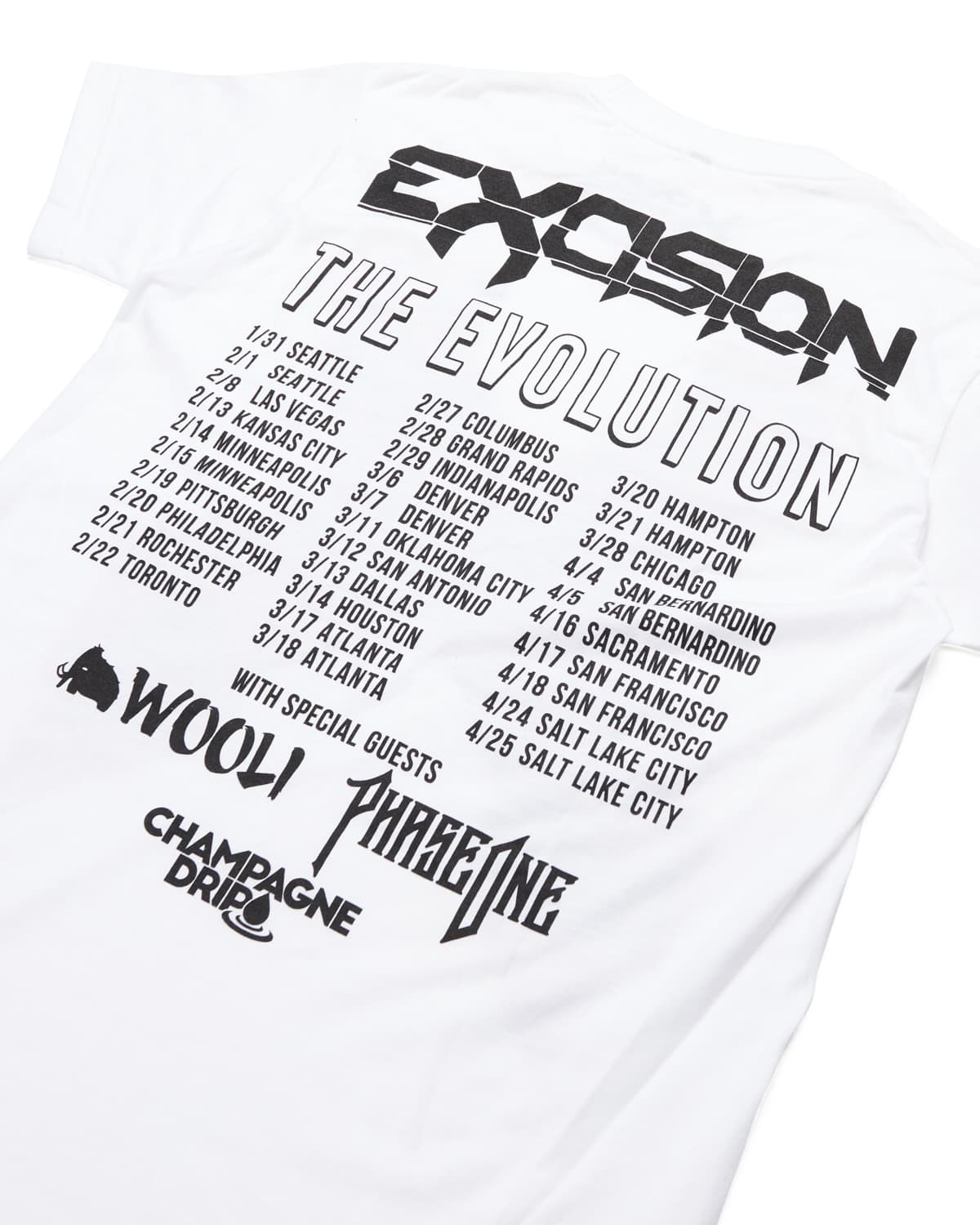 Evolution Tour Tee - White