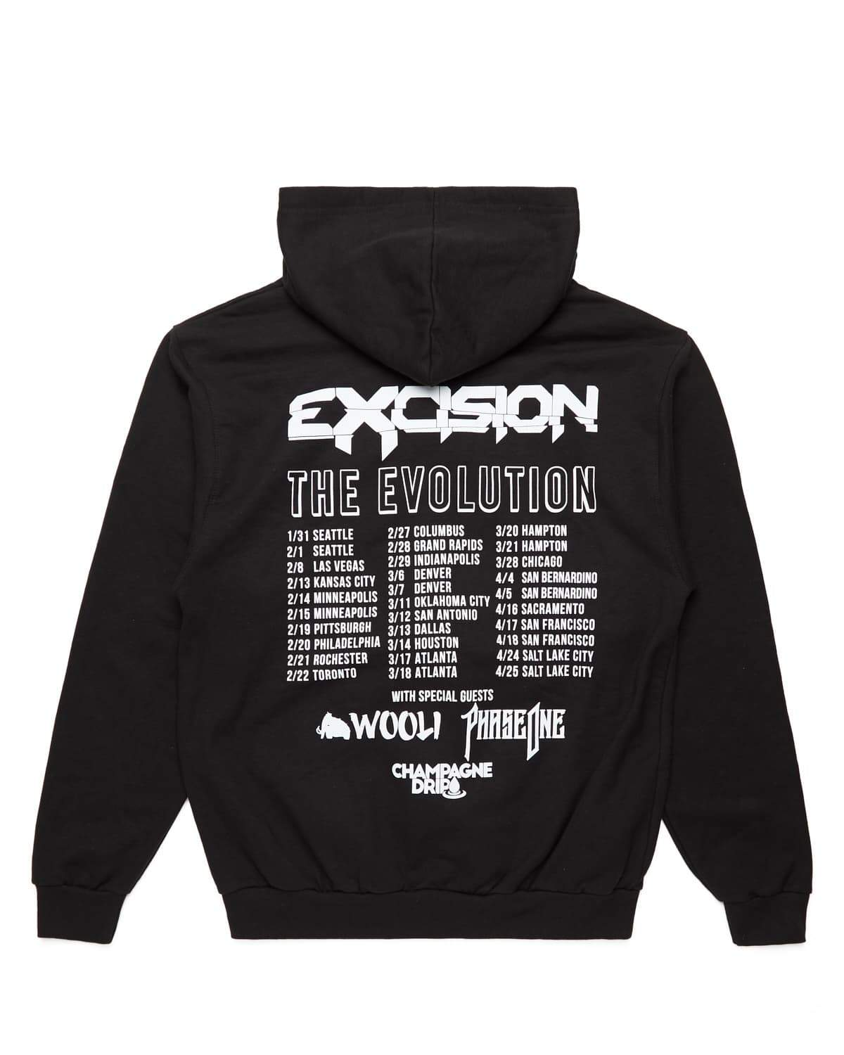 Evolution Tour Pullover Hoodie V.2 - Black