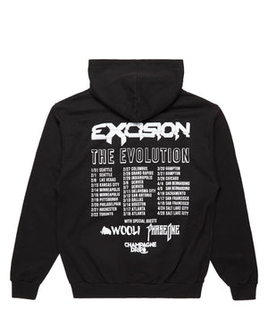 Evolution Tour Zip Hoodie V2 - Black