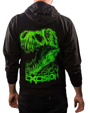 Excision Fossil Rex Unisex Zip Up Hoodie