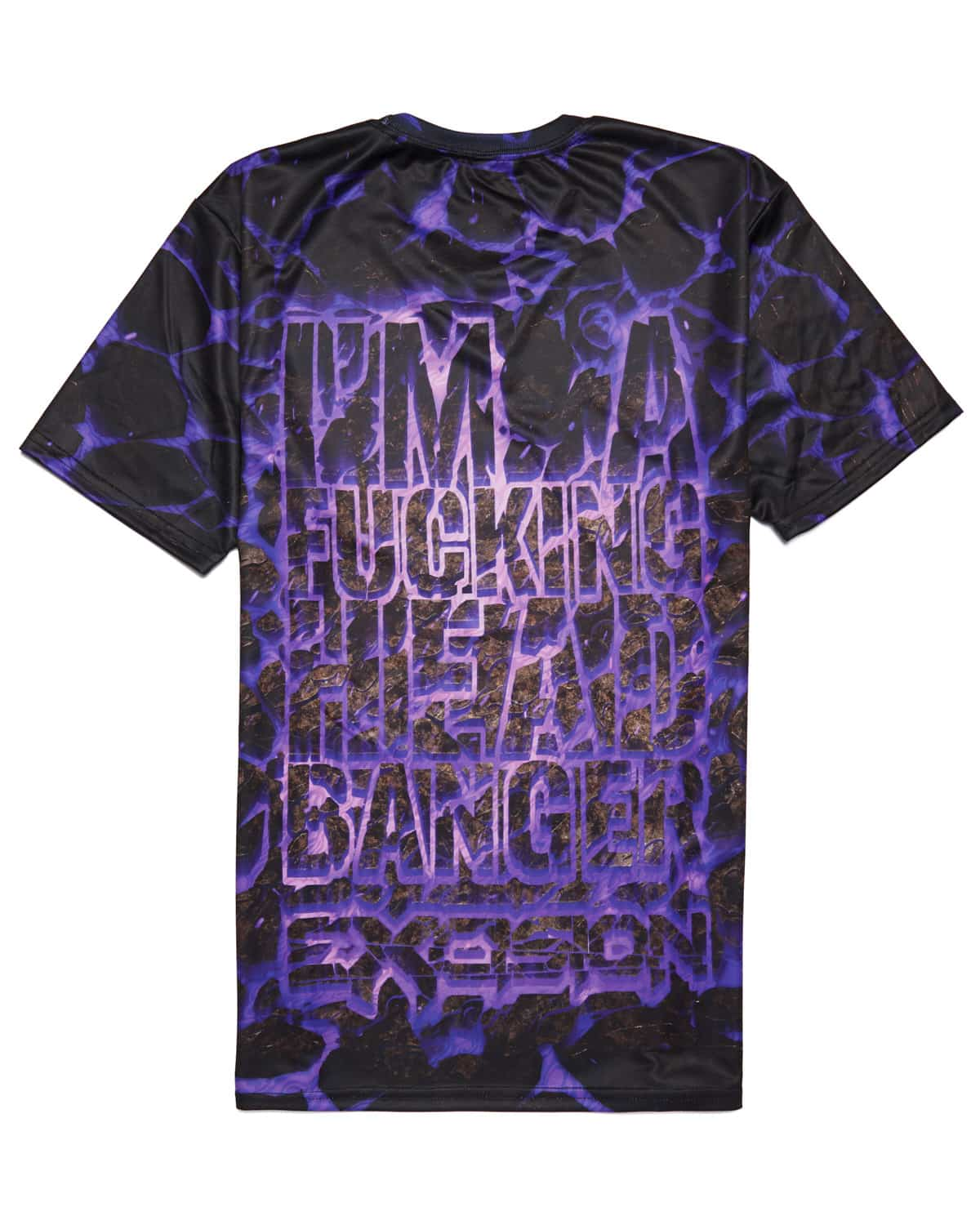 Excision 'Headbanger' Dye Sub Unisex T-Shirt - Purple