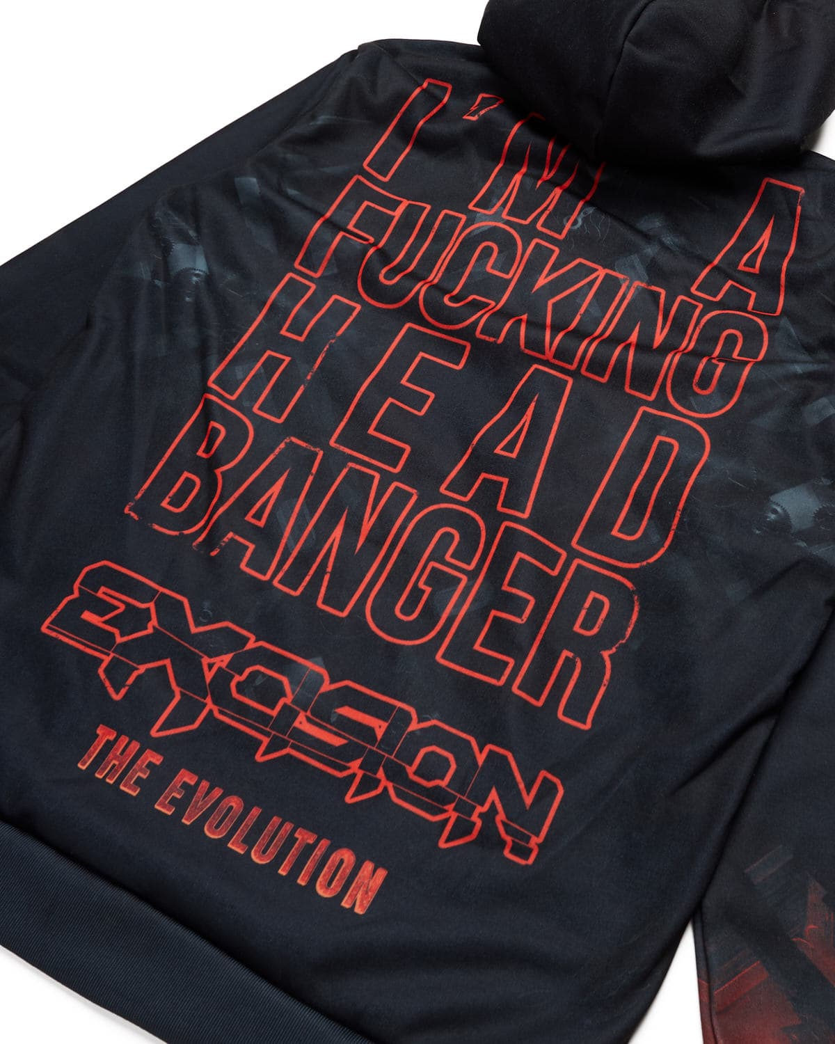 Headbanger Evolution Dye Sub Hoodie - Black/Red