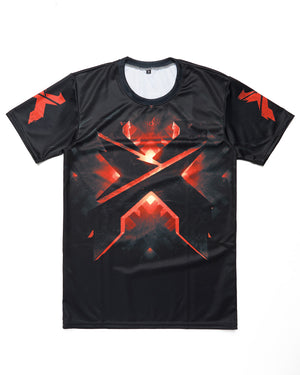 Headbanger Evolution Dye Sub T-Shirt - Black/Red