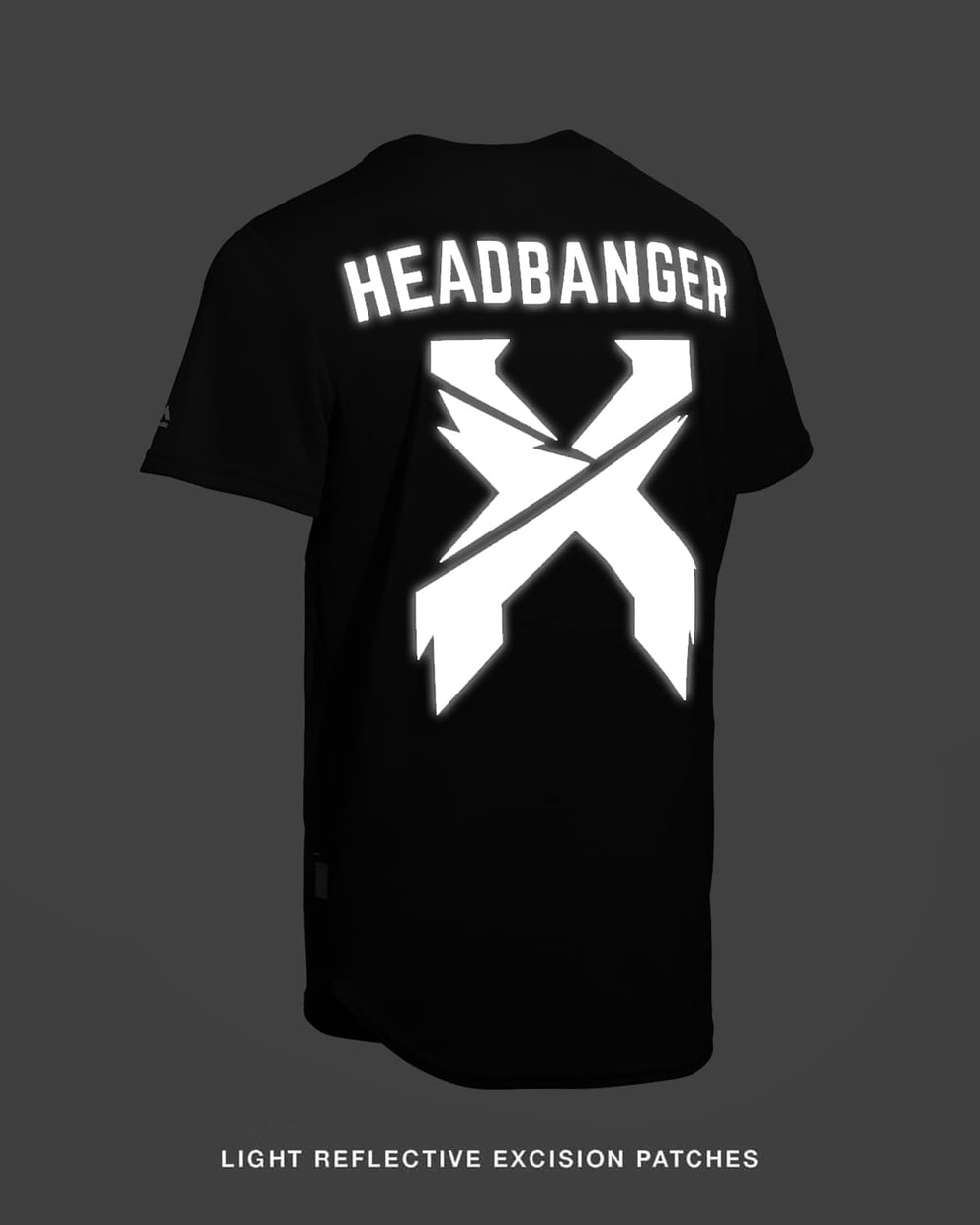 Excision 'Headbanger' Reflective Baseball Jersey - Black/Black