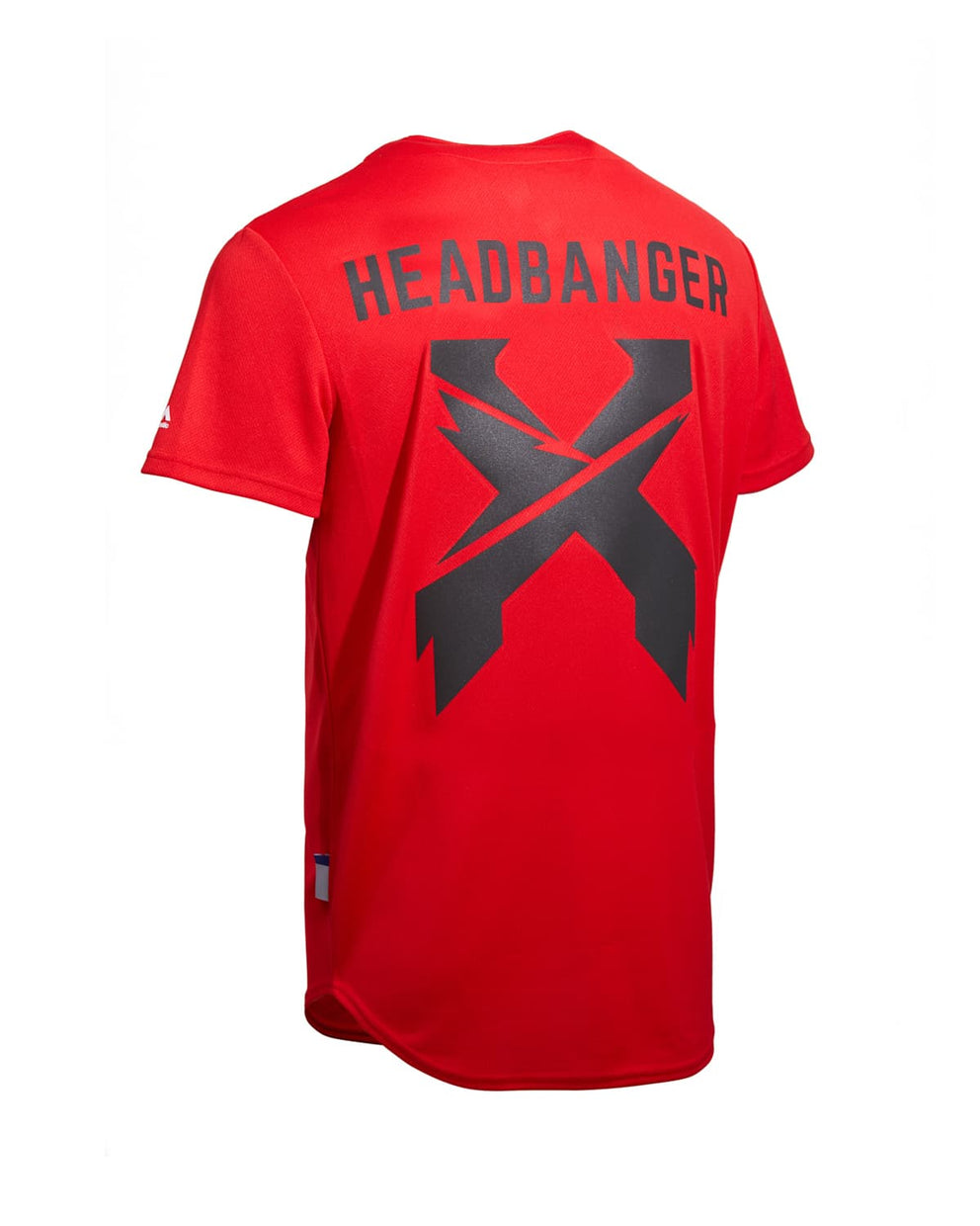 Excision 'Headbanger' Reflective Baseball Jersey - Scarlet/Black