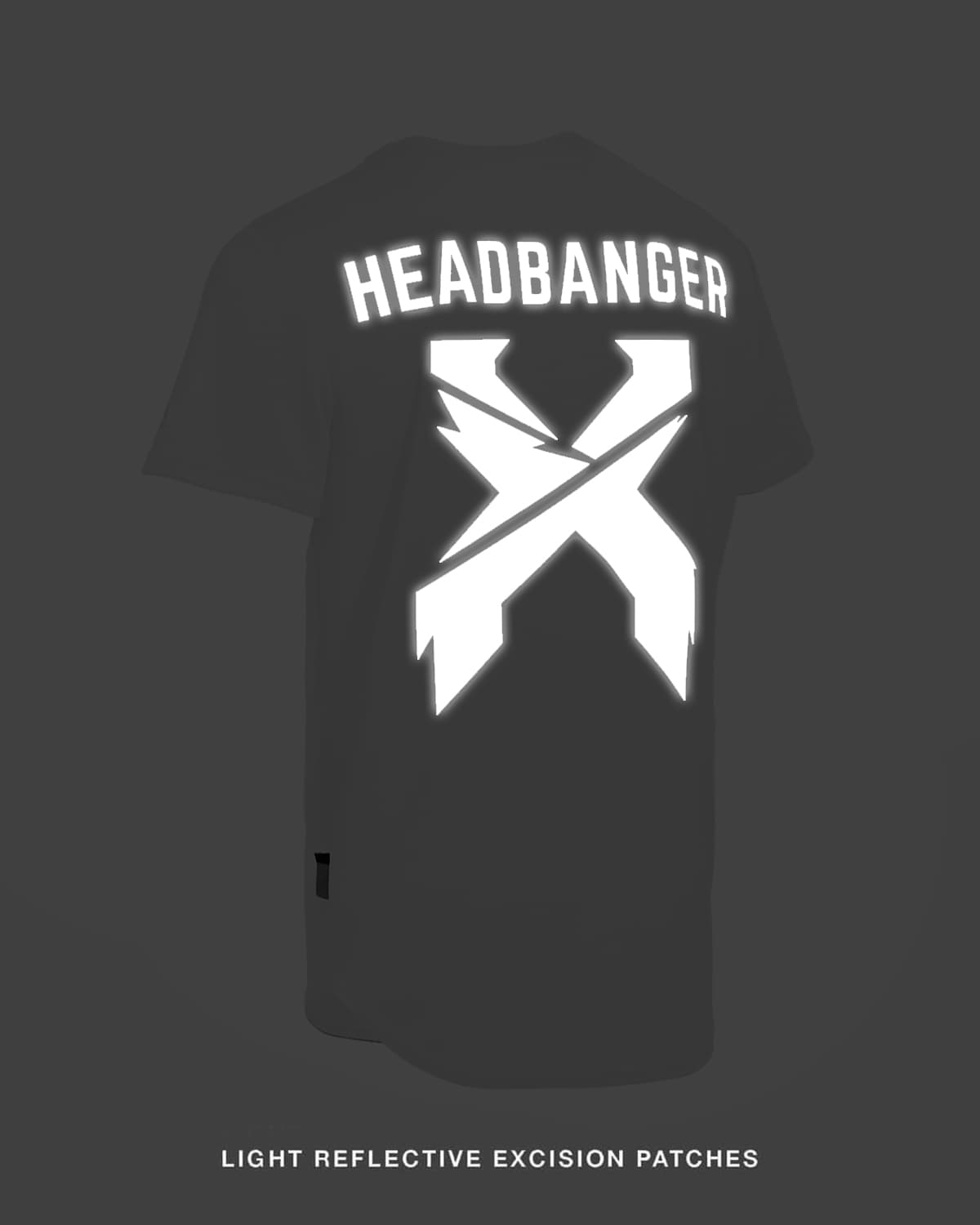 Excision 'Headbanger' Reflective Baseball Jersey - White/Black