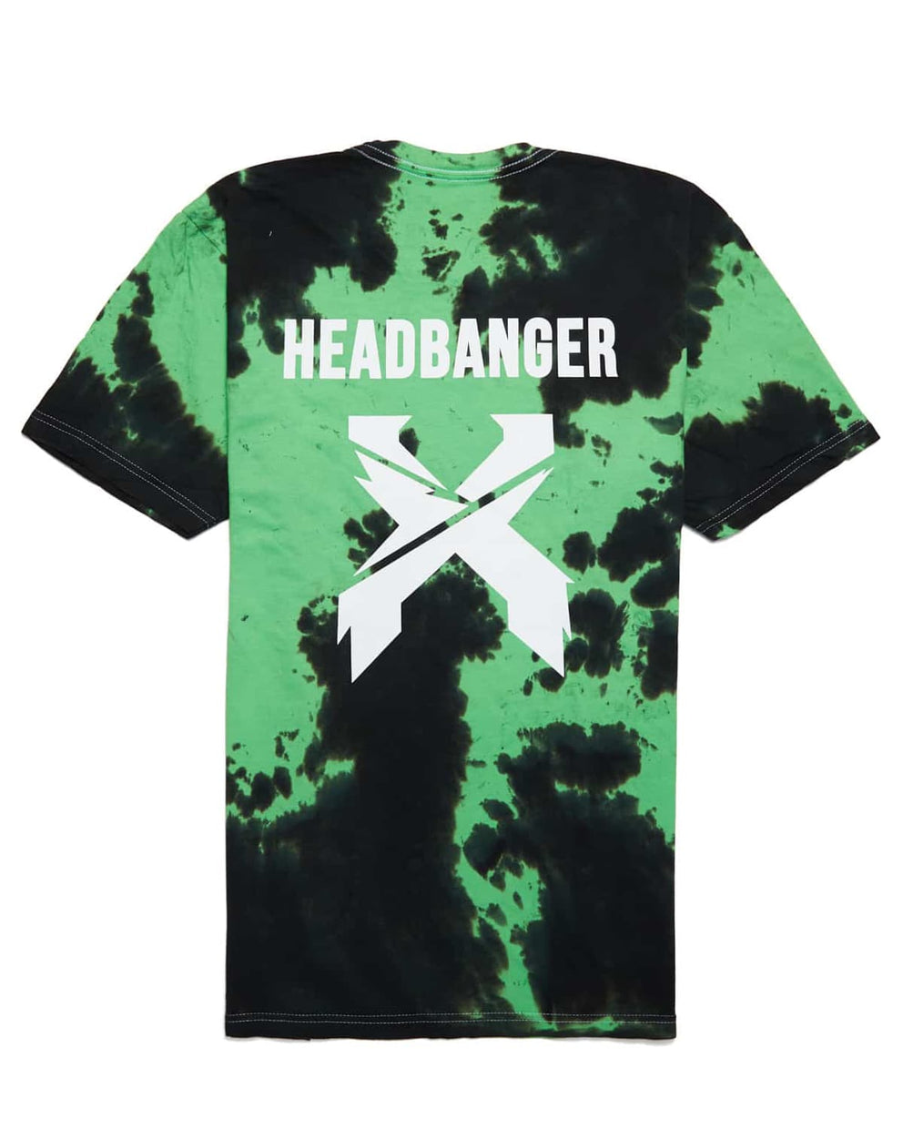 Excision 'Headbanger' Tie-Dye Unisex T-Shirt - Green