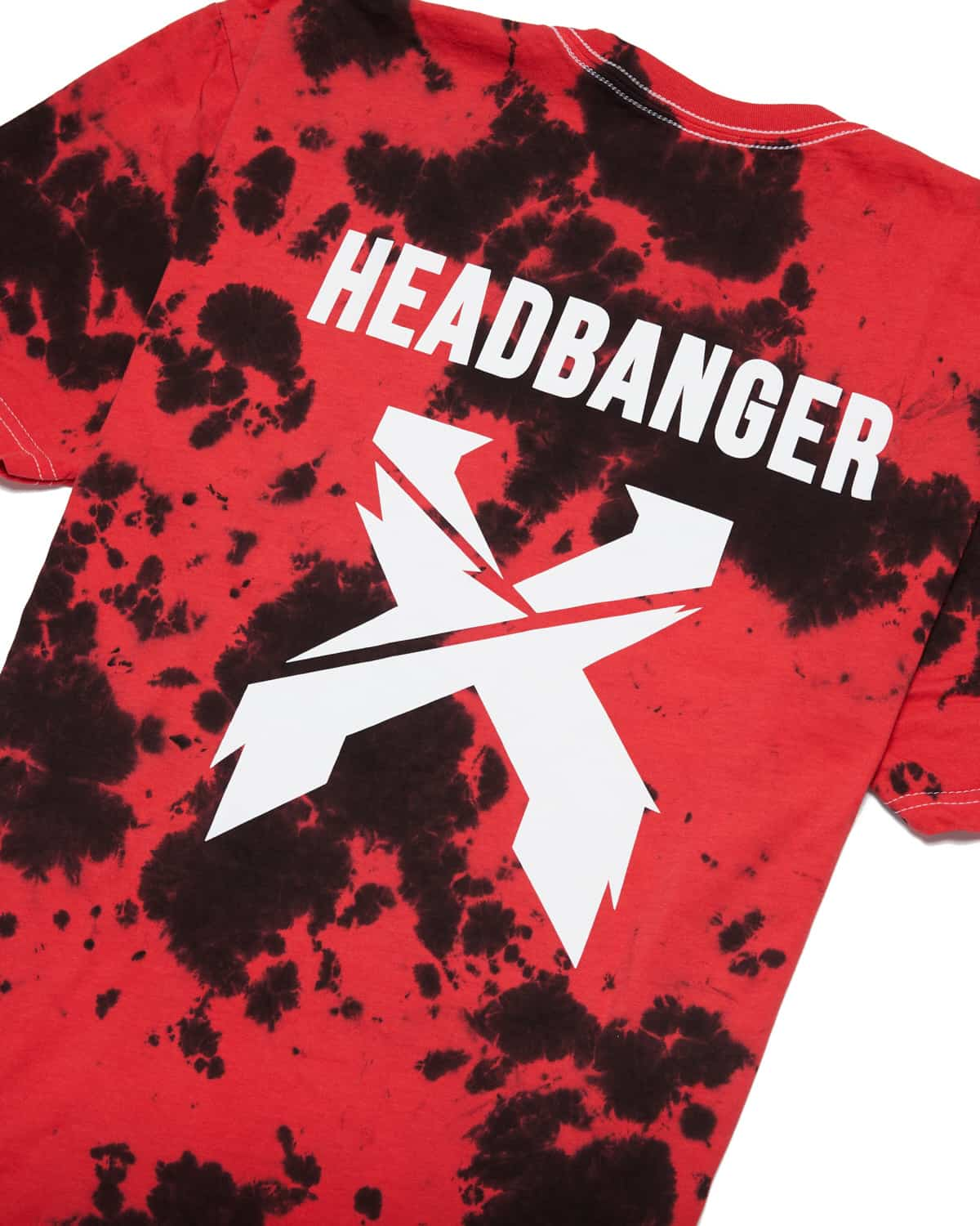 Excision 'Headbanger' Tie-Dye Unisex T-Shirt - Red