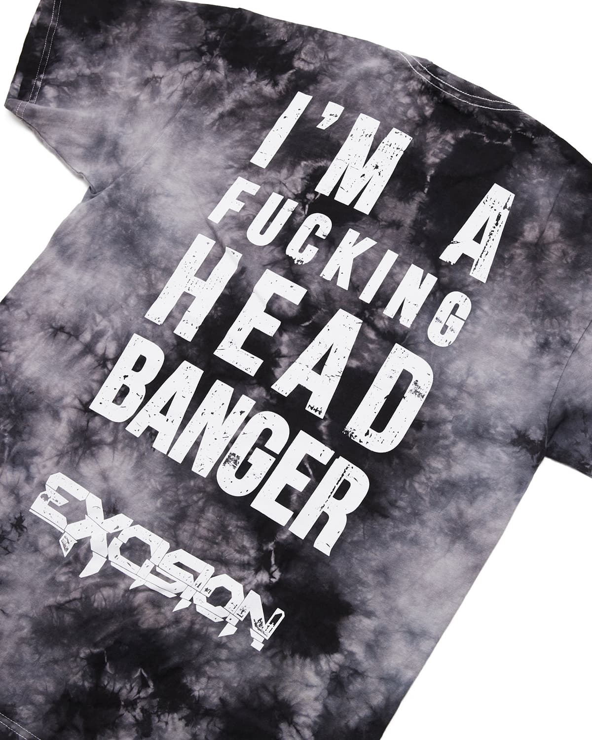 Excision 'Headbanger' Unisex Tie-Dye T-Shirt - Black